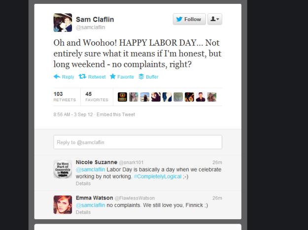 No Complaints Labor Day Tweet