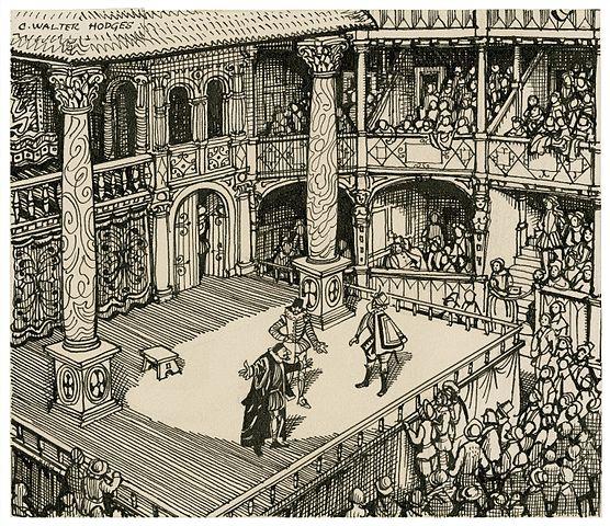 An Elizabethan theater