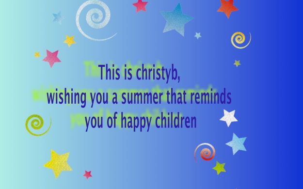 Summer quote card.