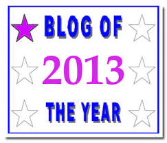 Award for Blog Of The Year 2013