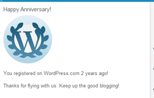 Blogging Anniversary Trophy