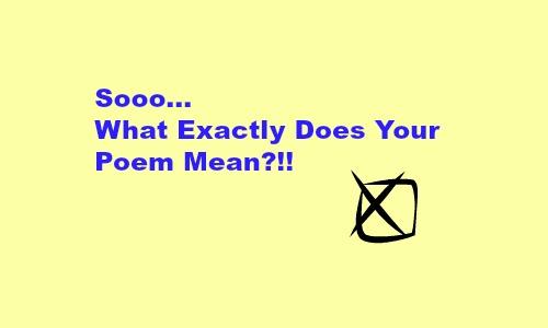 A Question about Poetic Motivation