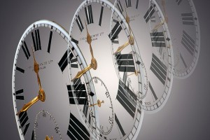 Clock ticks to symbolize time management